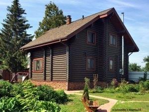 Строительство дома из бревна с отделкой