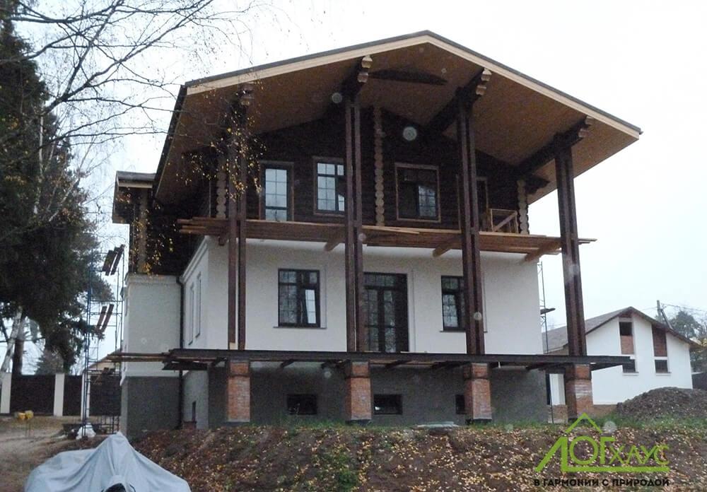 Строительство дома-шале
