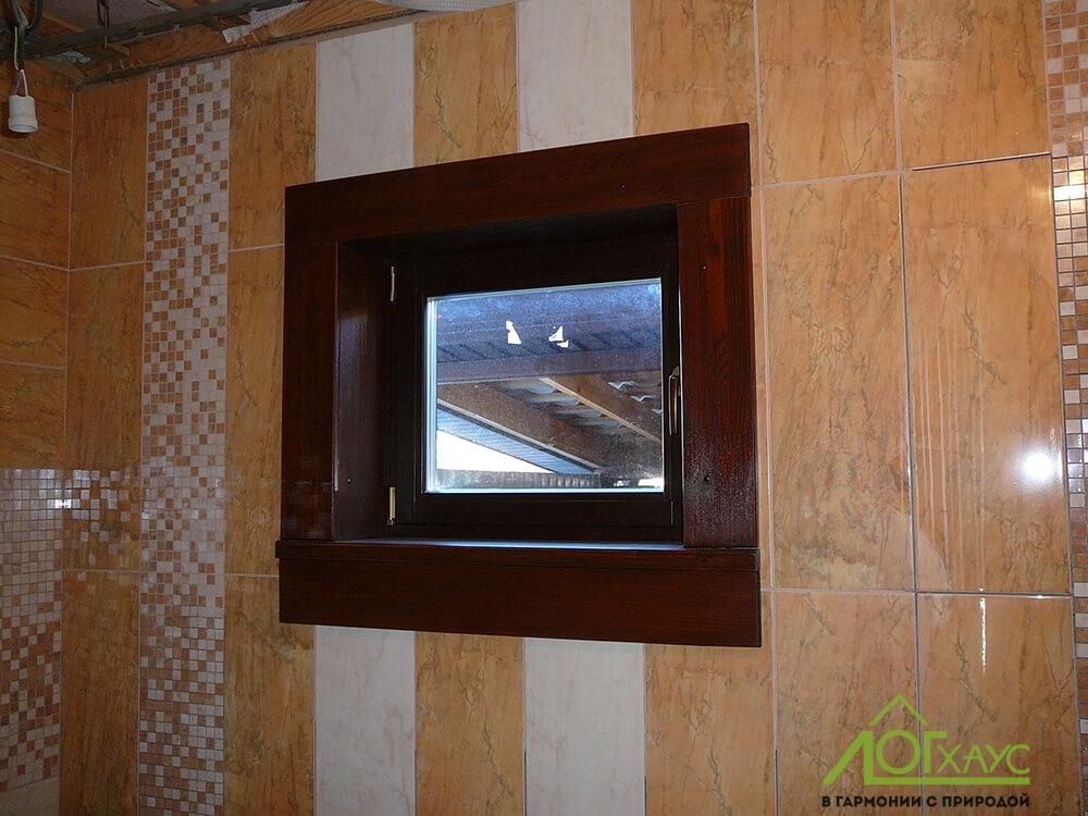 Установка окна и отделка наличником