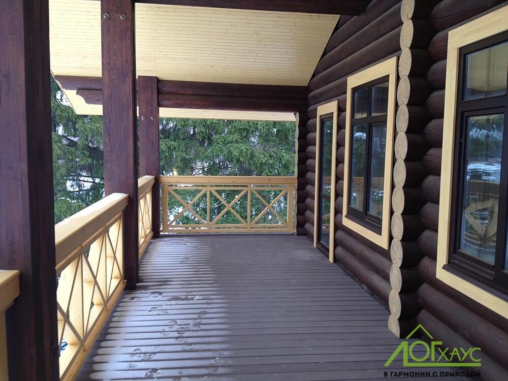 Отделка балкона деревянного дома