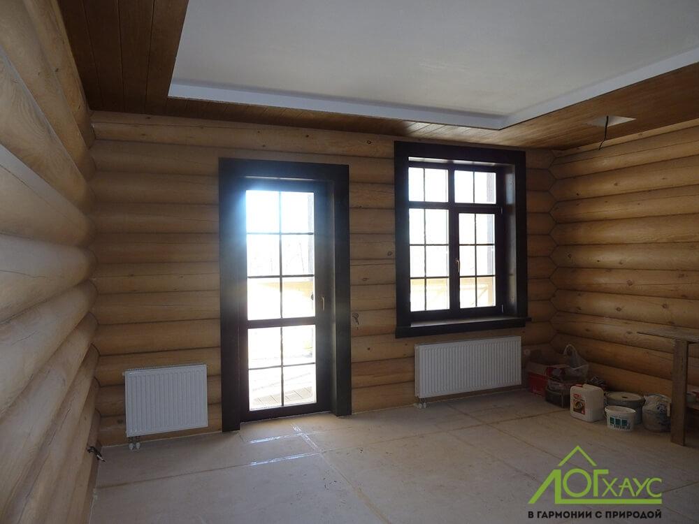 Чистовая отделка дома из бревна внутри