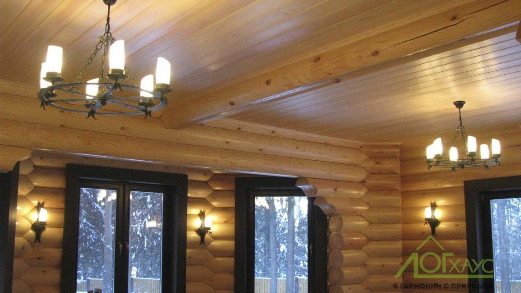 Монтаж освещения в деревянном доме
