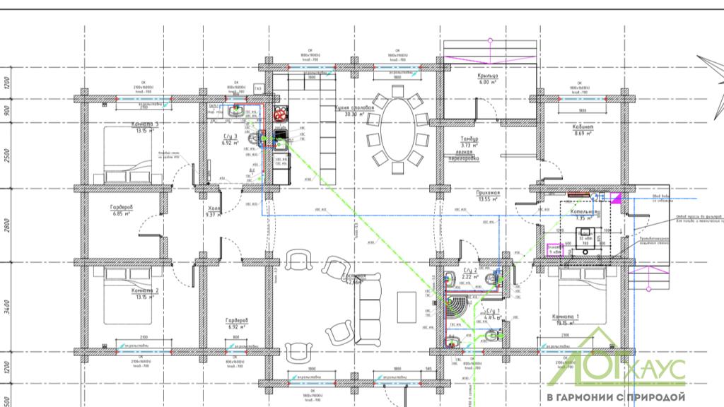 Проект водоснабжения и канализации частного дома