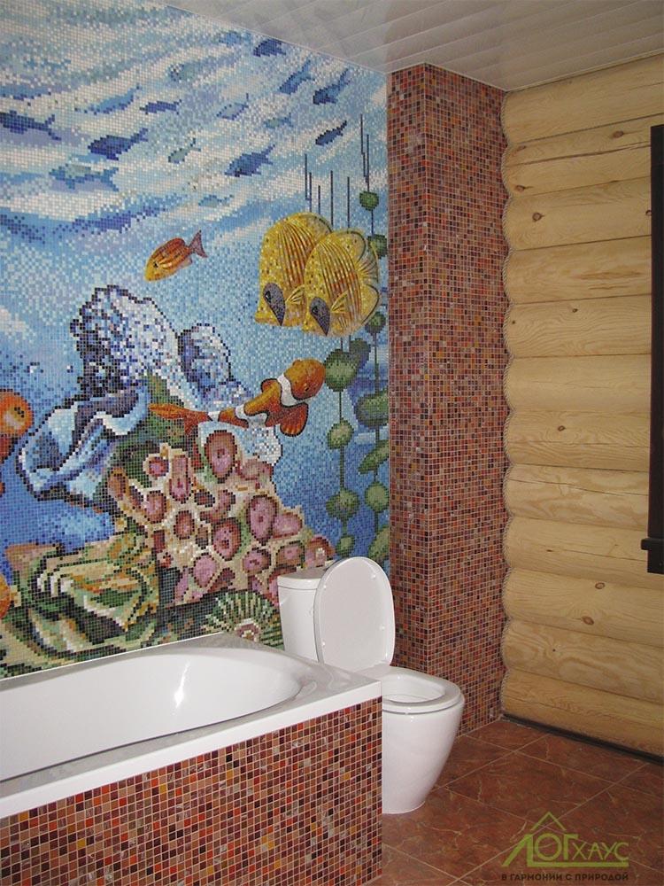 Готовый санузел в деревянном доме