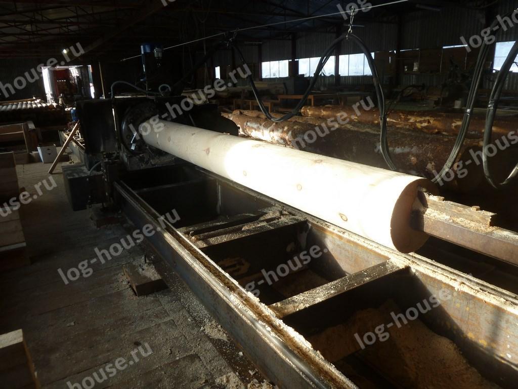 Изготовление оцилиндрованного бревна