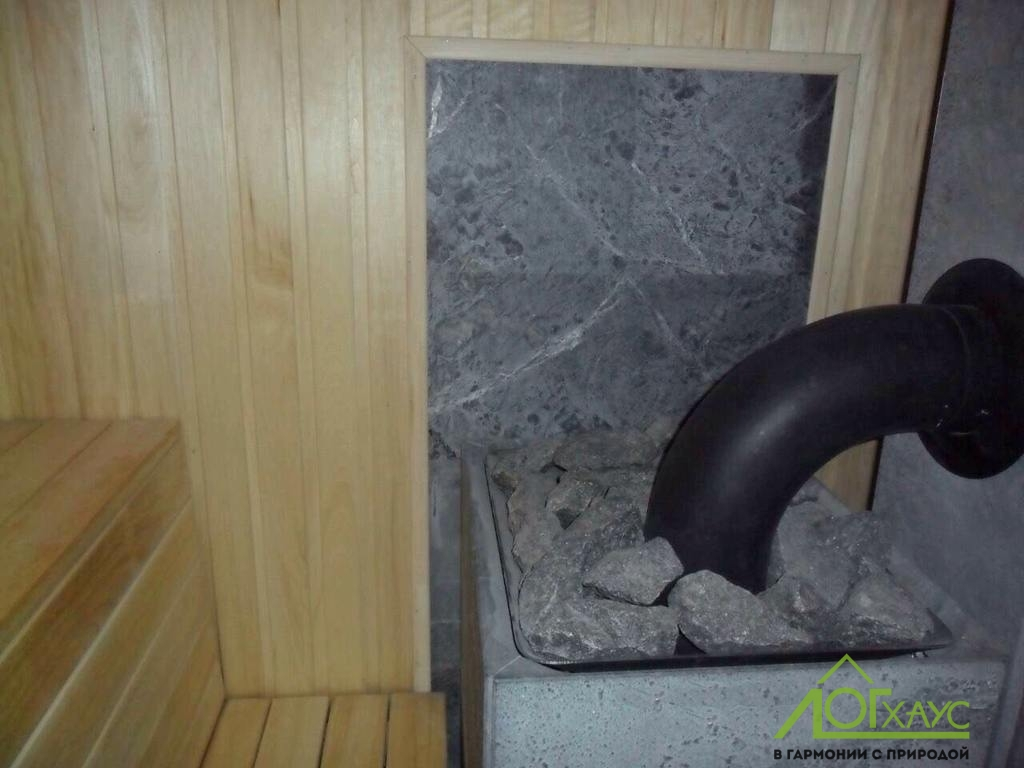 Монтаж печки в парной бани