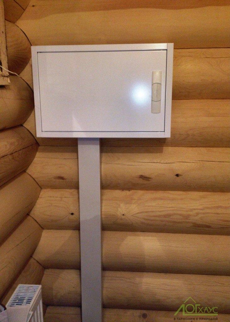 Монтаж электрощита в деревянной бане
