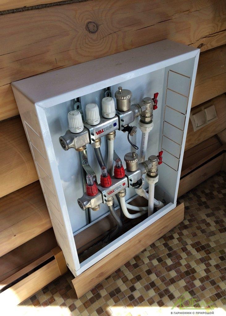 Монтаж коллекторов отопления
