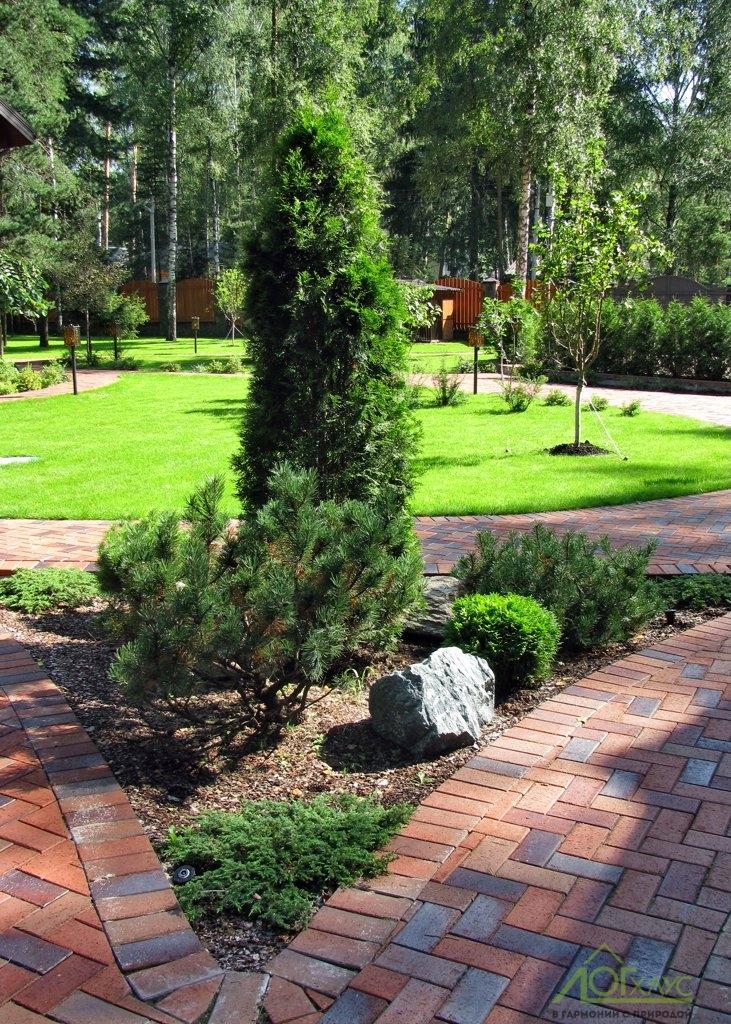 Ландшафтный дизайн участка загородного