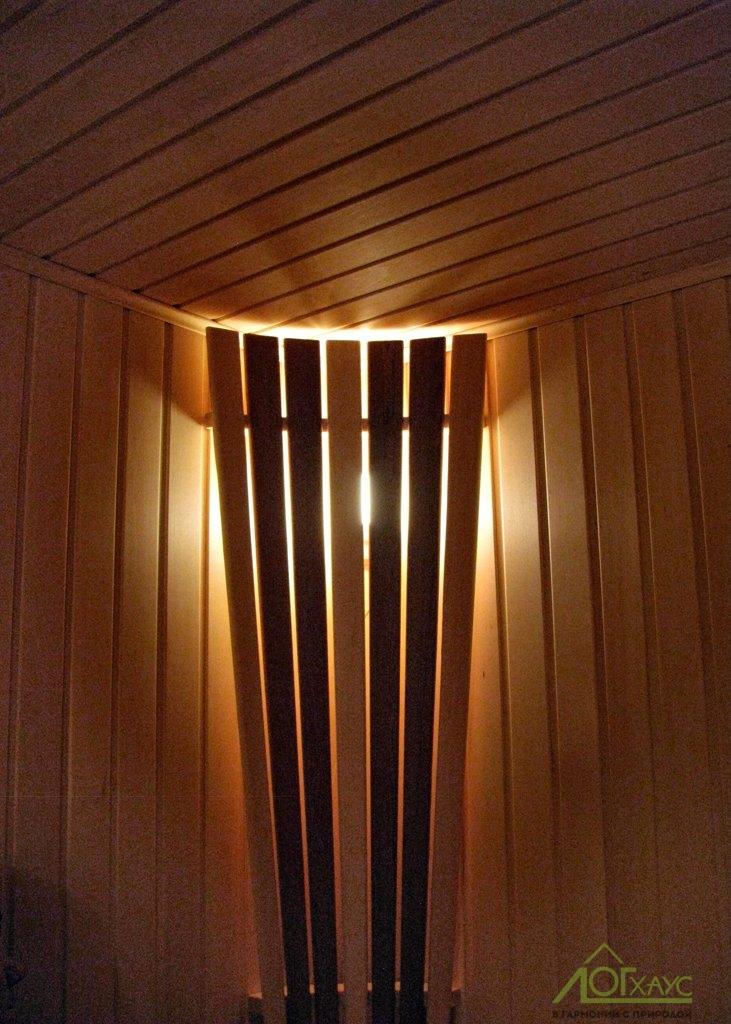Освещение в сауне