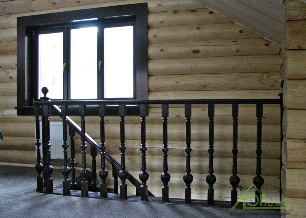 Установка лестницы и ограждений в бане
