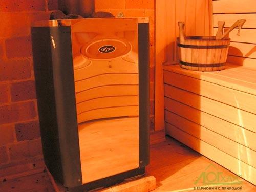 Печка в парной бани