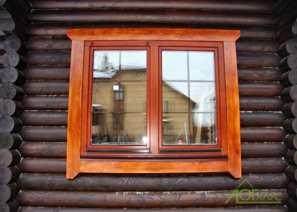 Установка окна деревянного и наличников