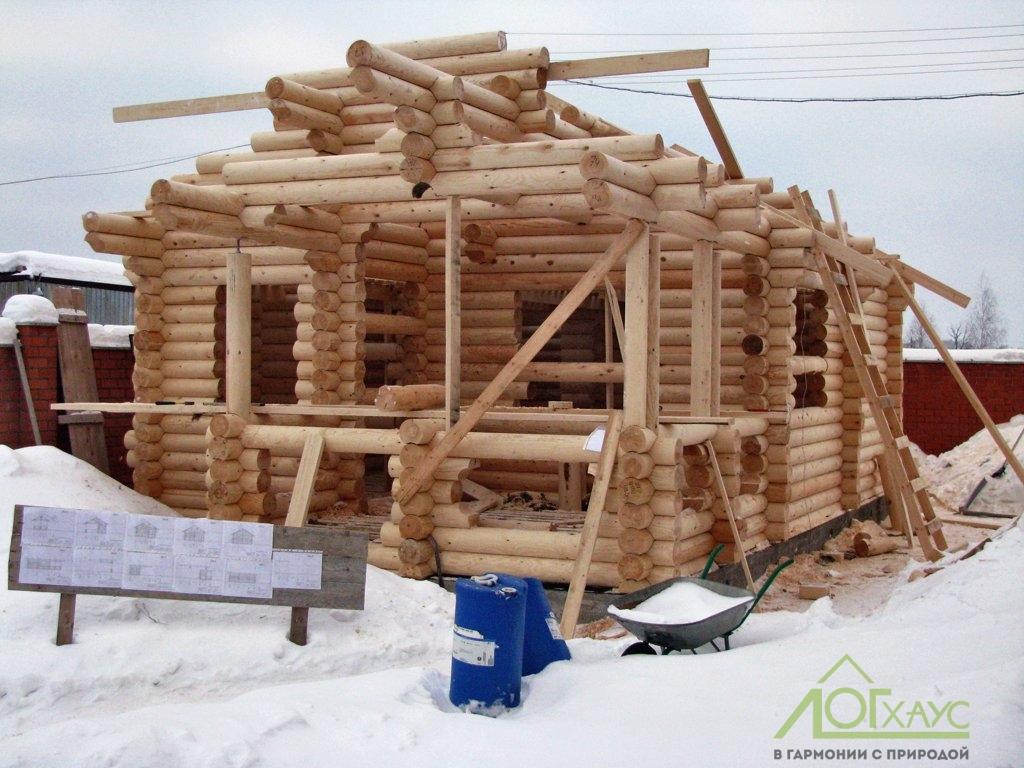Строительство сруба бани из бревна