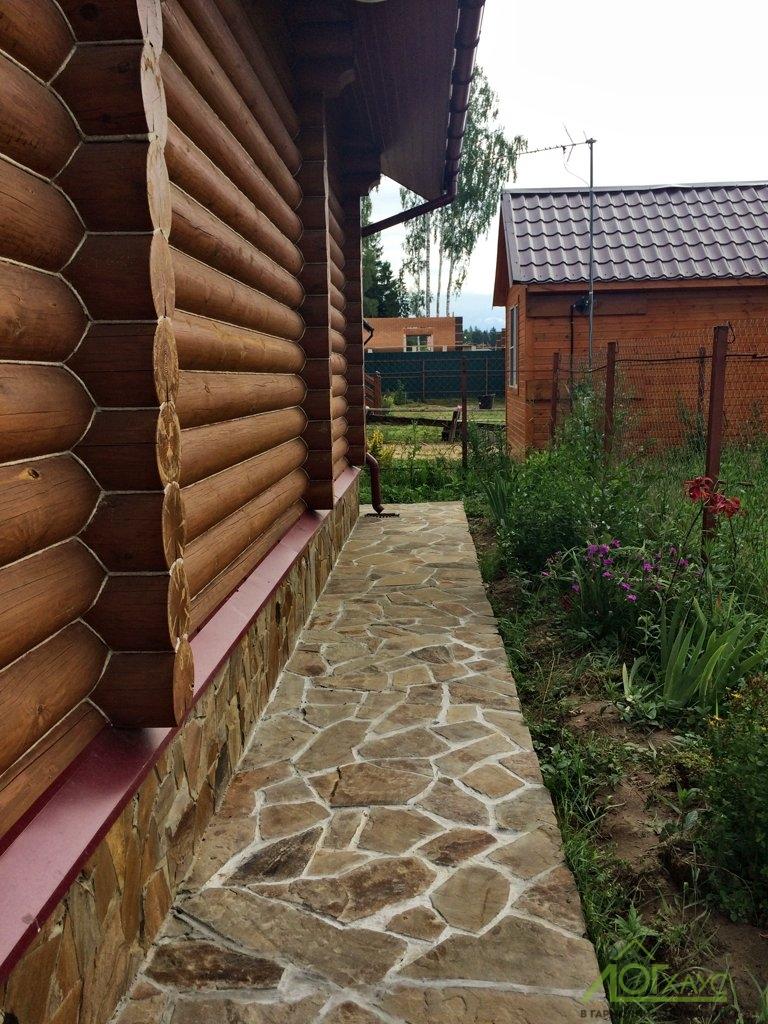 Устройство отмостки и наружная отделка деревянной бани