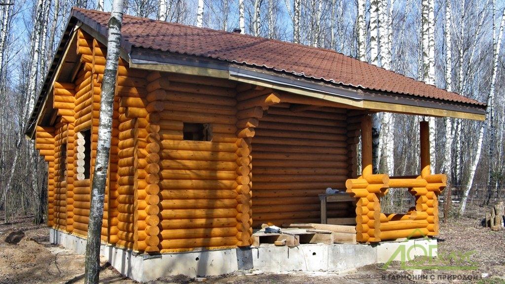 Строительство деревянной бани с отделкой