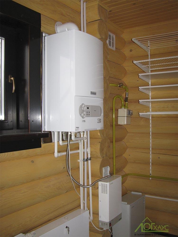 Газовый настенный котел в деревянном доме