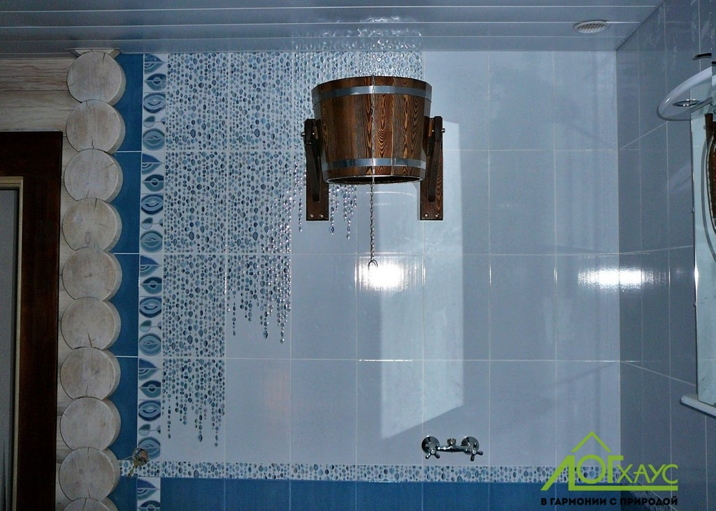 Обливочное ведро в помывочной бани
