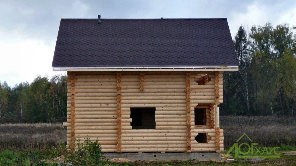 "Строительство сруба дома из бревна с кровлей ""под ключ"""
