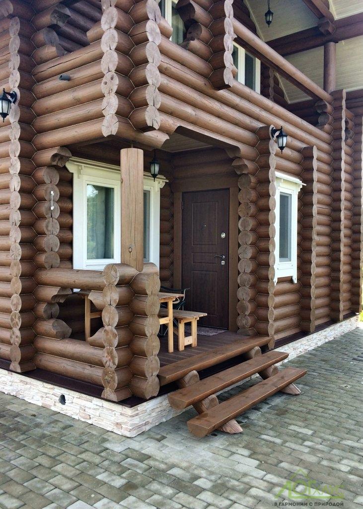 Полная отделка дома из бревна