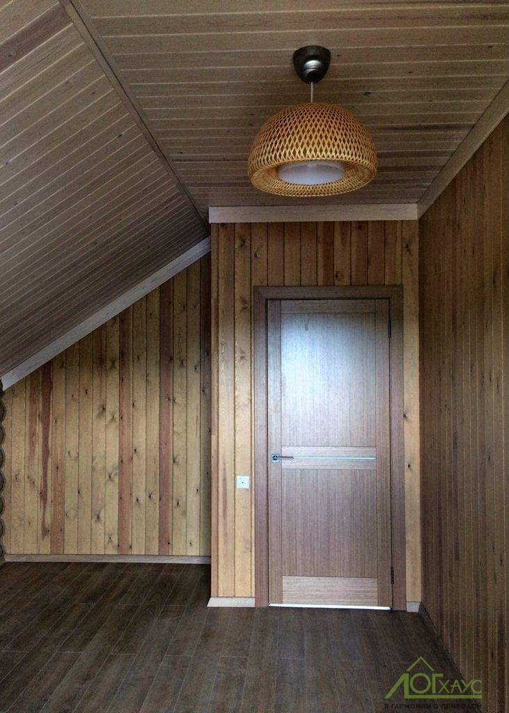 """Внутренняя отделка бревенчатого дома с каркасными стенами """"под ключ"""""""