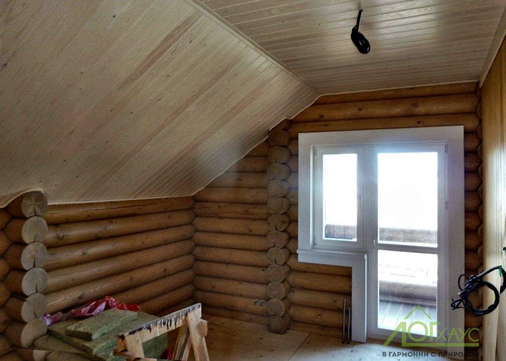 Внутренняя отделка бревенчатого дома