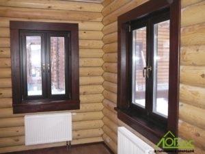 Окна, подоконники и наличники изнутри дома