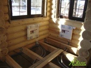 Монтаж труб отопления и радиаторов в деревянном доме