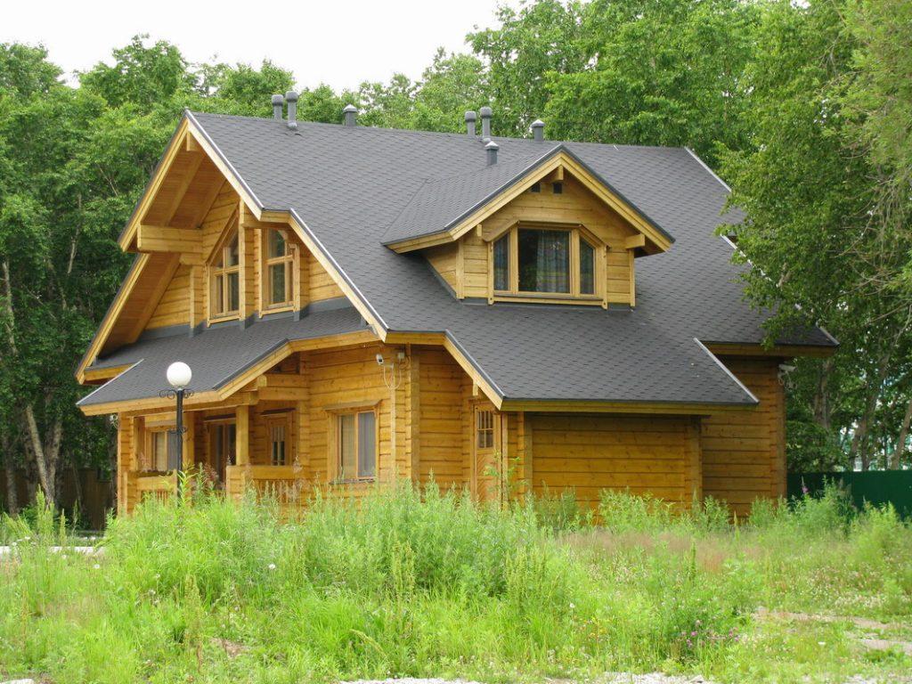 Дачный дом из клееного бруса