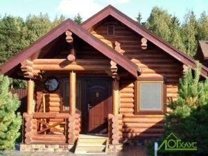 Дом из бревна одноэтажный