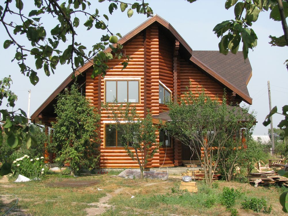 Деревянный дом из архангельского бревна