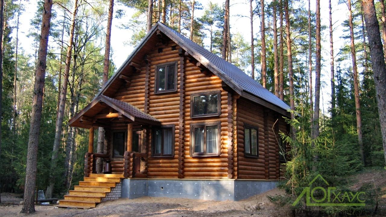 Строительство базы отдыха и домов из бревна