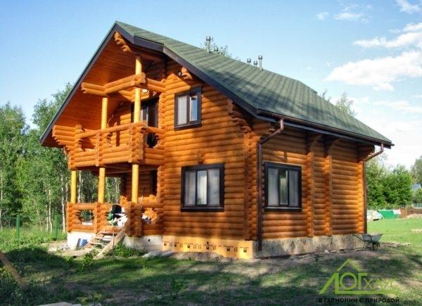 Строительство дома из бревна с отделкой и инженерией