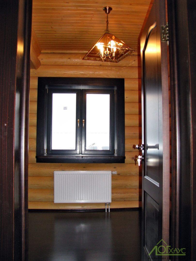 Финишная отделка бревенчатого дома