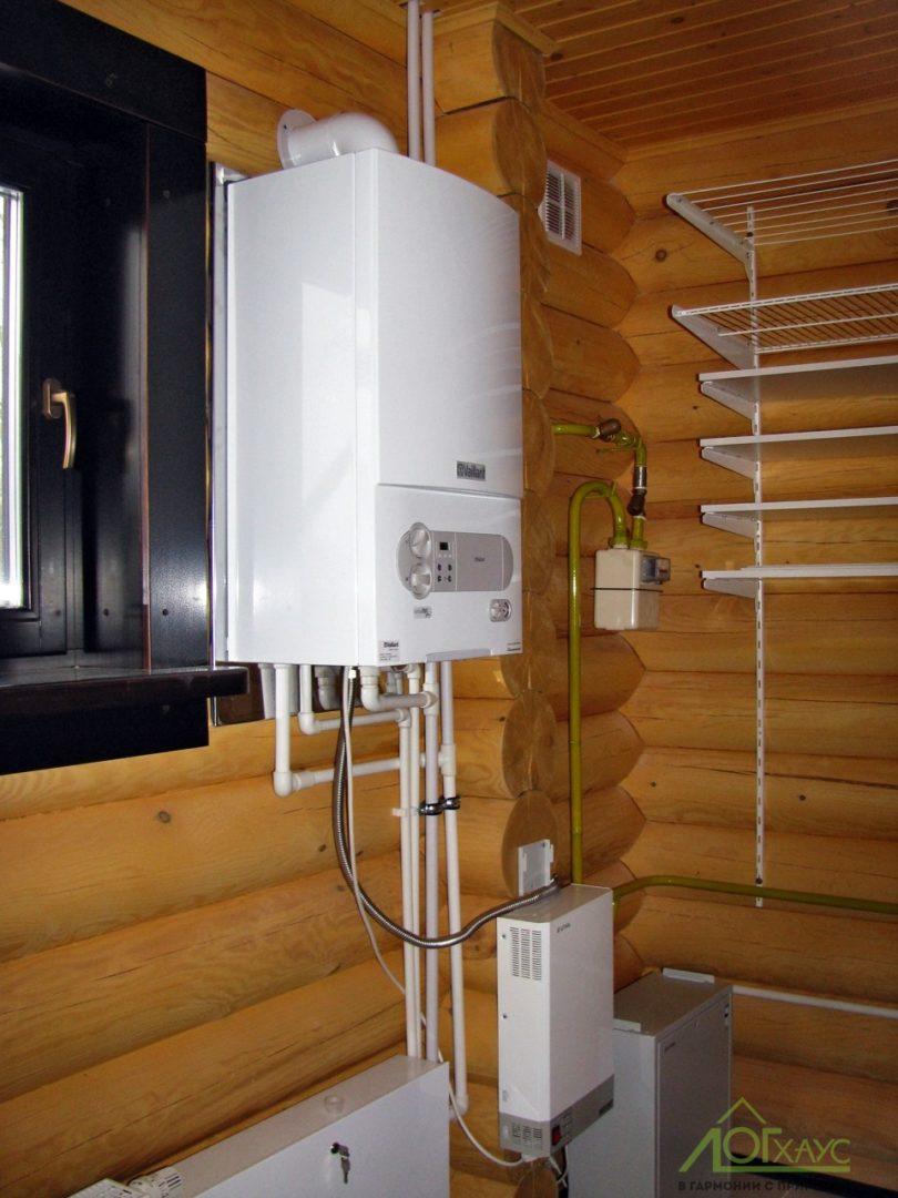 Настенный газовый котел для деревянного дома