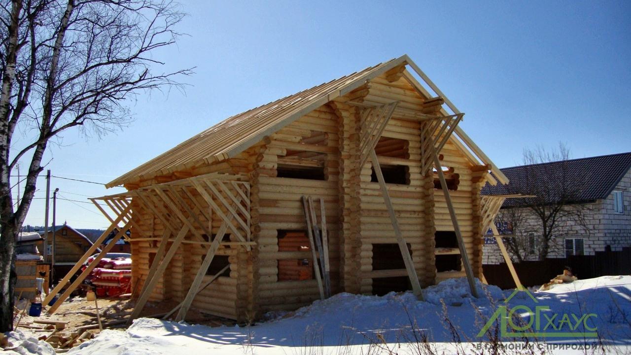 Монтаж кровли деревянного дома из ОЦБ