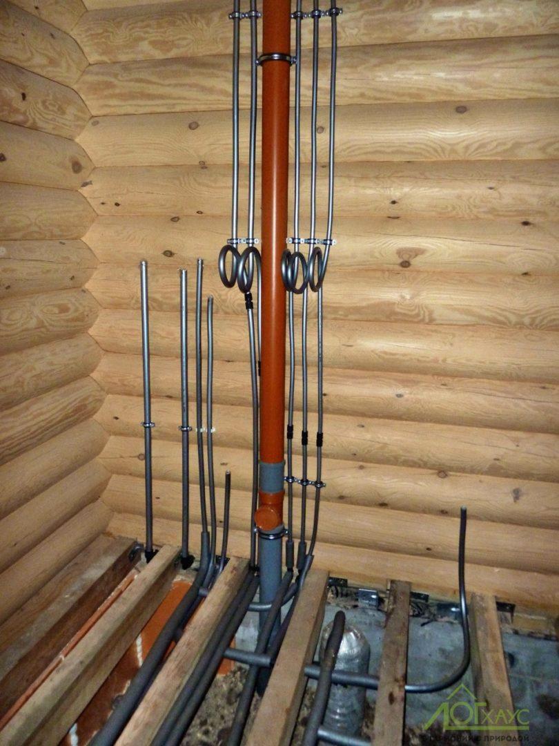 Разводка инженерных коммуникаций в деревянном доме