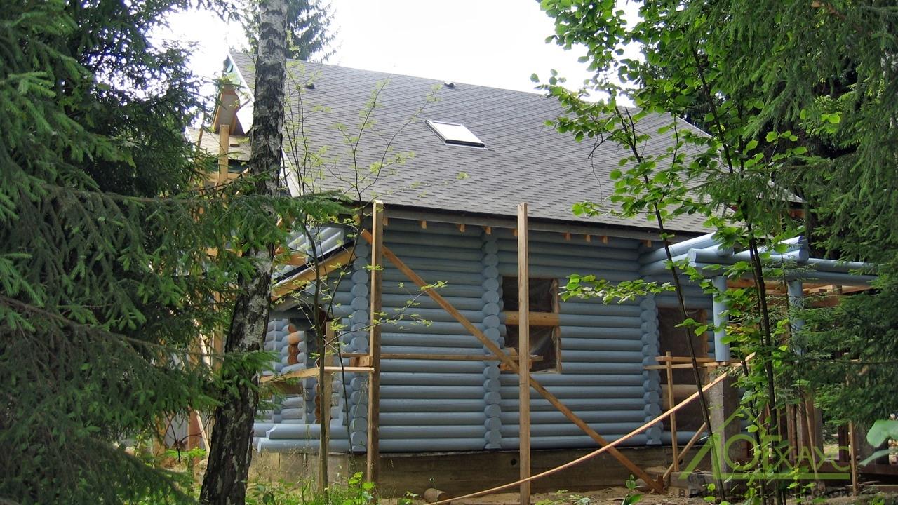 Наружная покраска бревенчатого дома