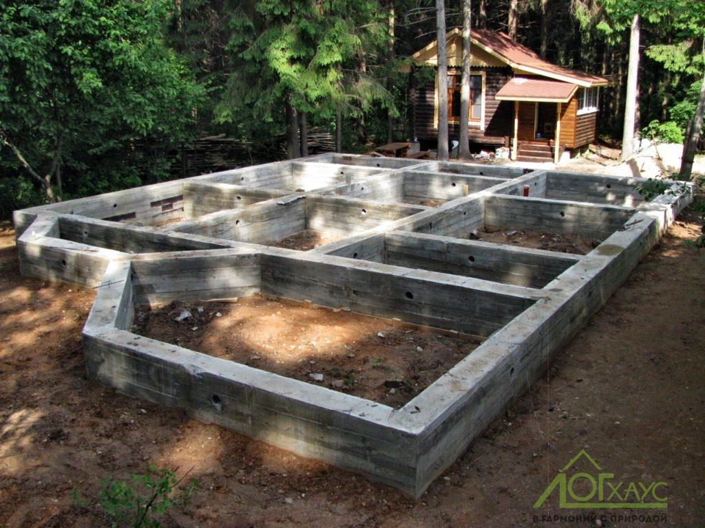 Строительство ленточного фундамента по проекту