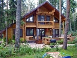 Дом из оцилиндрованого бревна