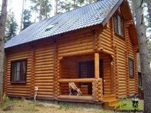 Полный комплекс отделки дома из бревна