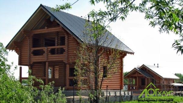 Строительство дома и бани из бревна