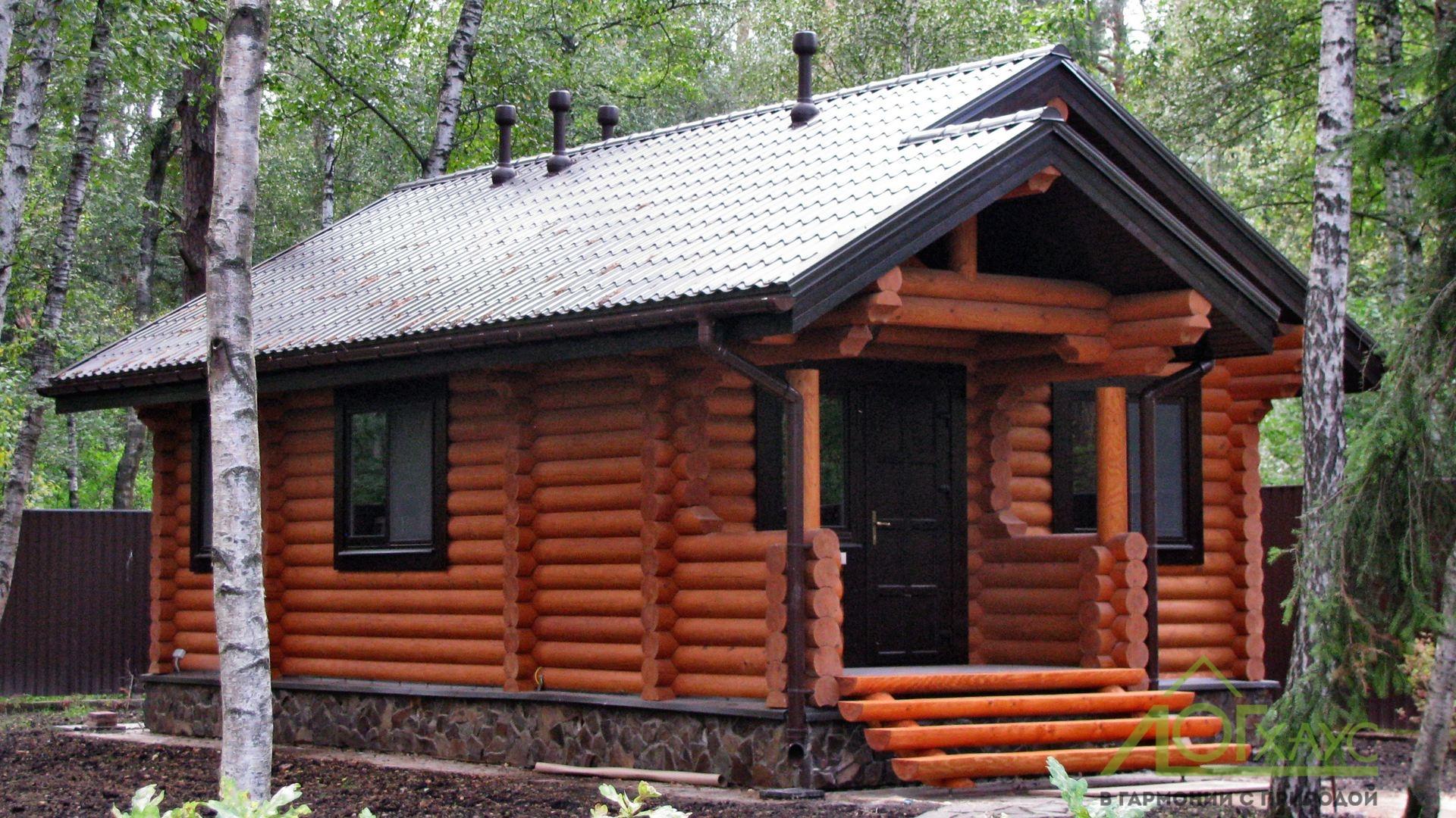 Одноэтажный деревянный дом 50 метров квадратных