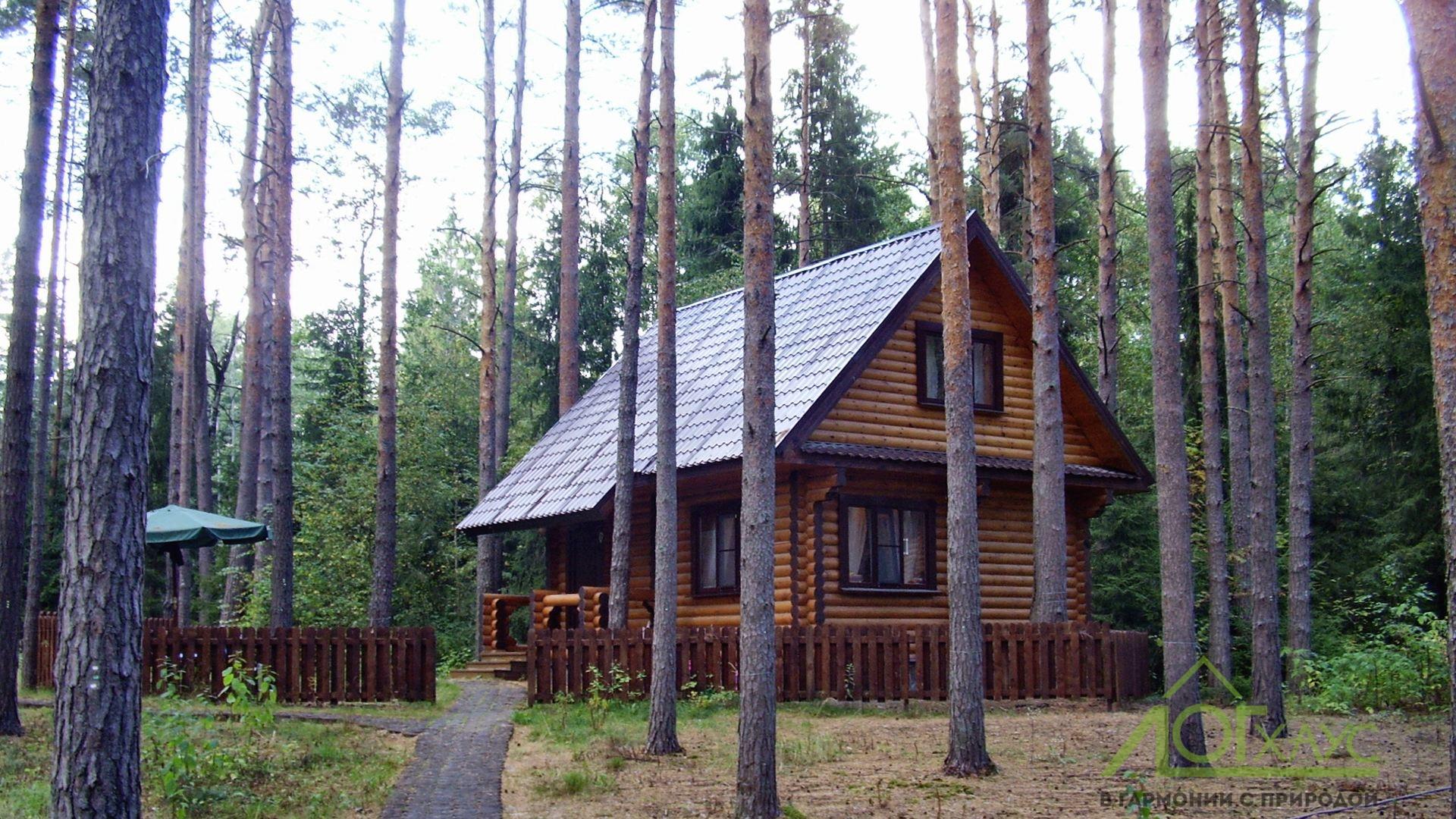 Загородный дом из бревна с отделкой и инженерией