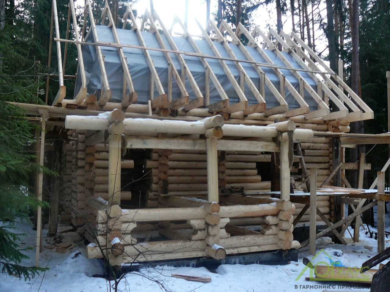 Монтаж мансардного каркасного этажа деревянного дома