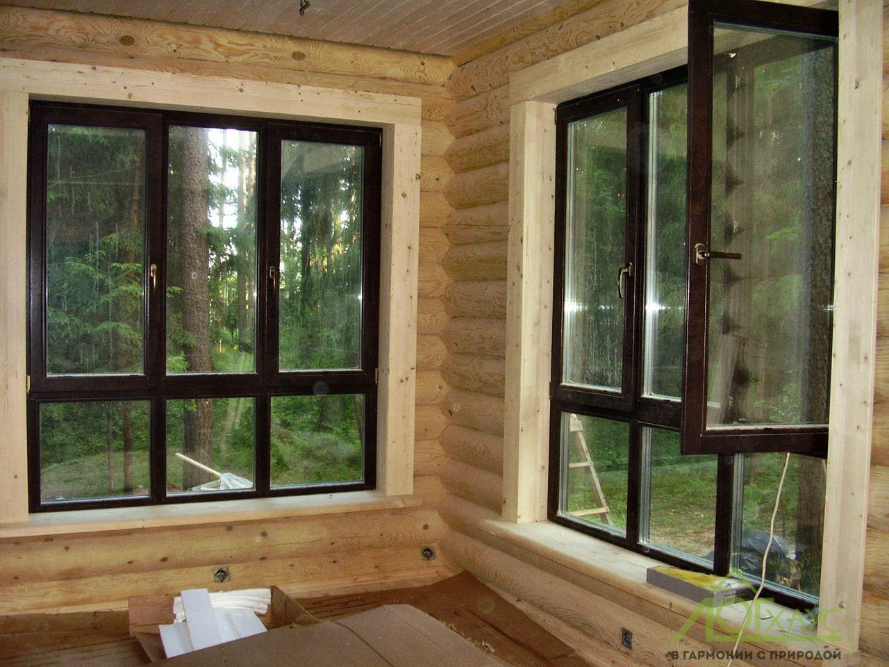 Монтаж деревянных окон в срубе