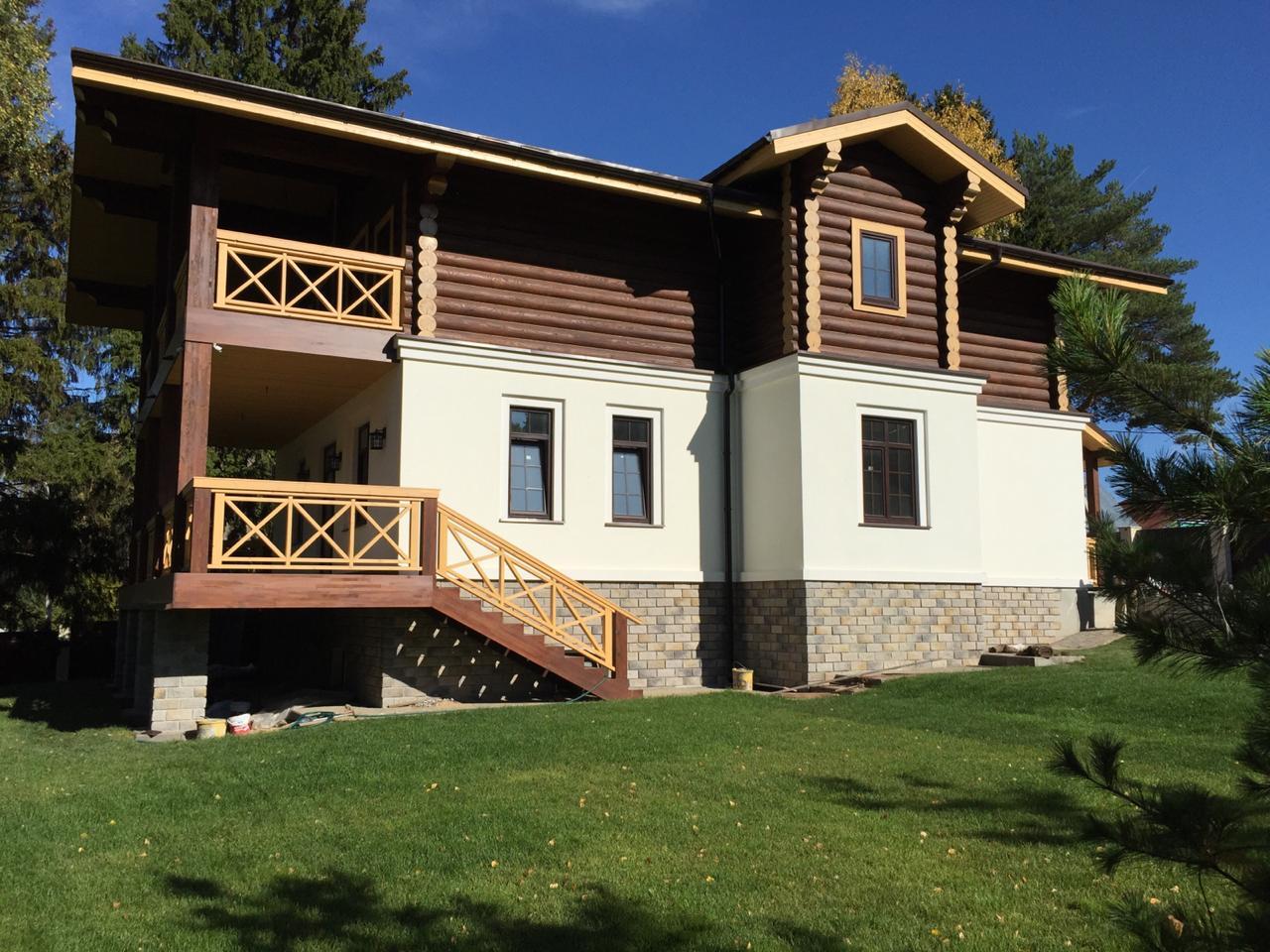 Комбинированный дом шале