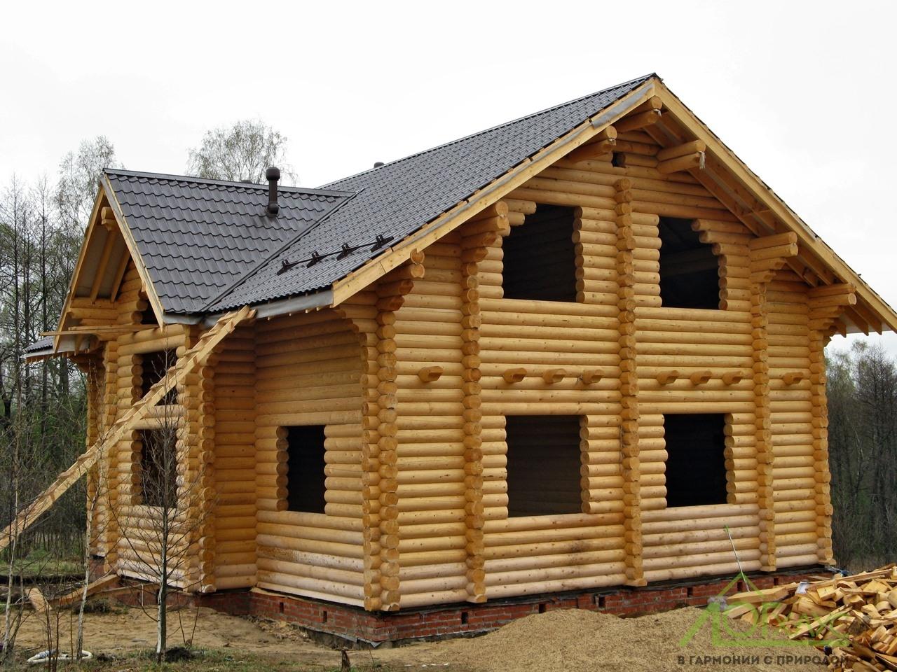 Строительство сруба и кровли деревянного дома