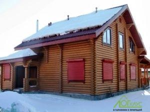 Бревенчатый дом в полной отделке