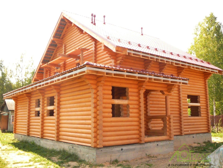 Наружная шлифовка и покраска деревянного дома